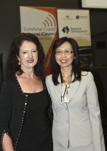 Sandy Zubrinich & Ms Nussara Smith, director Overseas Market Development: Asia, Trade & Investment Qld