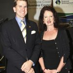 The Hon. Jarrod Bleijie, Attorney General and Minister for Justice Qld and Sandy Zubrinich, Chair Sunshine Coast Business Council