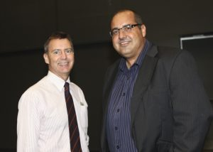 Councillor Stephen Robinson & Mark Furler, forum MC