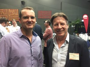 Cr Peter Cox and Mayor Tony Wellington