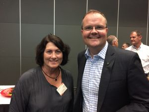 Lynda Tanner and Ted O'Brien MP