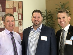 Cr Steve Robinson, Andrew Powell MP and Jarrod Bleijie MP