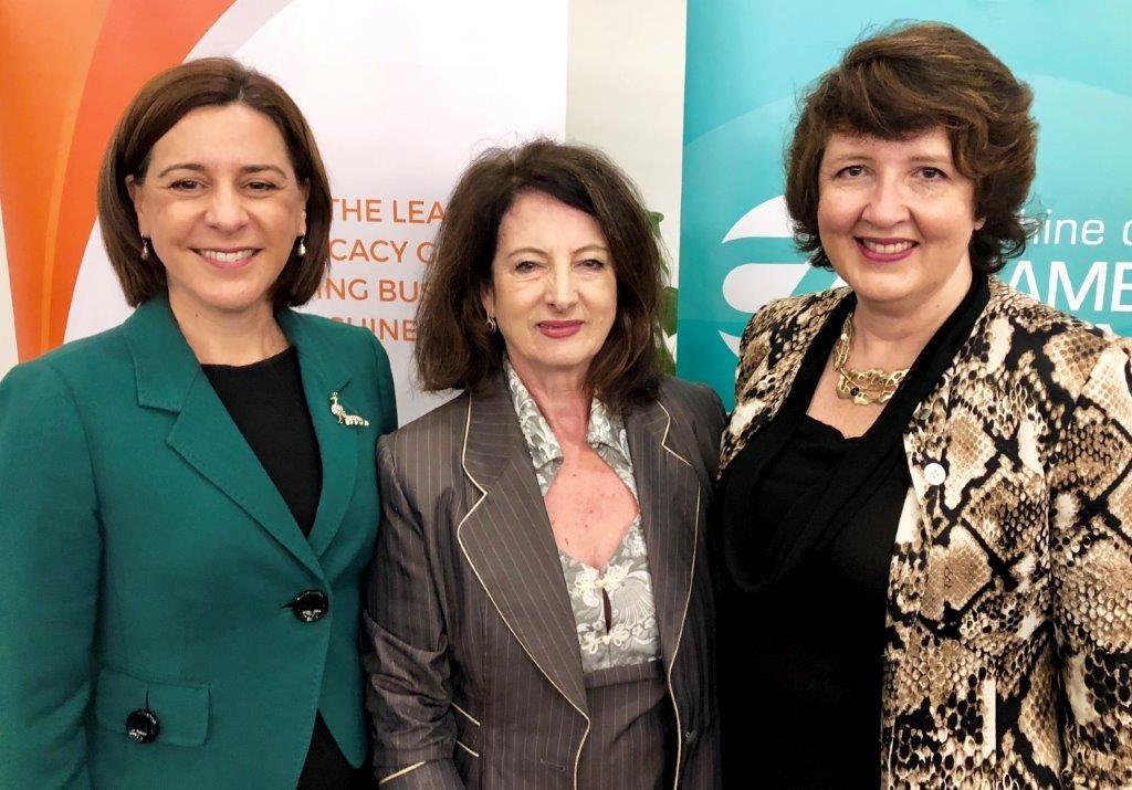 DebFrecklington MP, Sandy Zubrinich, Fiona Simpson MP