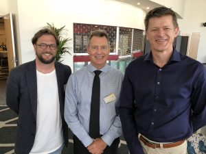 James Birrell, Cr Steven Robinson and Evan Aldridge