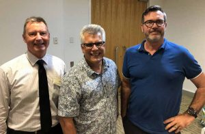 Cr Steve Robinson, Peter Pallot & Michael Shadforth